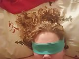 Blindfolded Girlfriend Sucking Cock