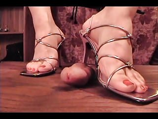 Footjob High Heels Trampling video: trampling footjob w cum