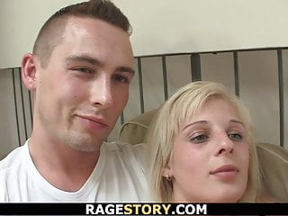 Czech Teen Blonde vid: Guy punishes shaved pussy blonde GF rough
