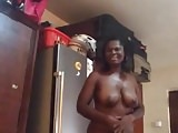 My African girlfriend sexy naked dance