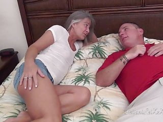 Small Tits Blowjob Milf video: Petite Milf Cheats on Hubby with her Friend