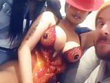 Nicki Minaj touching her pussy