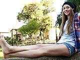 Sexy skateboard feet soles
