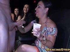 Party liebende Babe Muschi von Big Dicked Stripper zugeschlagen