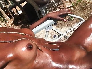 Fingering Black Big Tits video: Eboblack exhibition..