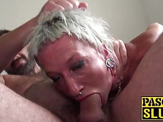 Blonde Big Cock Cowgirl video: Skinny submissive slut choked and fucked with a fat shaft