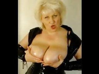 Mature Frau Rubs Her Big Natural Tits