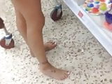 Remove shoes and Barefoot Shopping