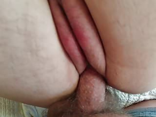 Hairy Bbw video: Huge Tits and Ass BBW Milf Shaved Cunt Filled With Cum