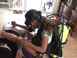 Handjob in Scuba Gear