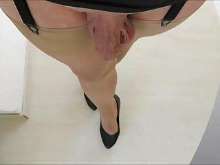 walking bitch , nylon bitch spank the ass