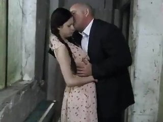 Small Tits Brunette Skinny video: WALL Granddad Takes Her Cherry !