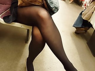 Stockings Lingerie Pantyhose video: Black pantyhose