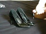 cum black patent heels