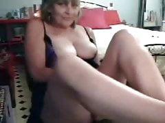 Hidden cam on the closet finally caught my mom masturbating