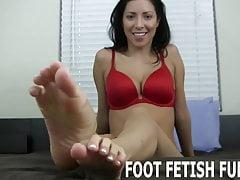 Ich möchte meine pedicured Zehen zeigen