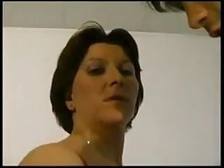 Hairy French Mature video: French mature fucking Anal Hard