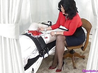 Bdsm Femdom Cfnm video: Mistress Handjob For Sissy