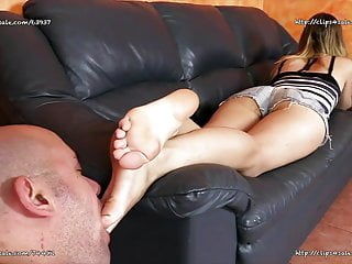 Bdsm Femdom Foot Fetish video: Margot Lopez  - My Older Brother Is a Fucking Feet Licker