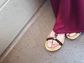 Foot Fetish Footjob Skinny video: arab feet toes teen model 4