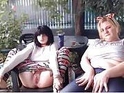 2 russian girls in public