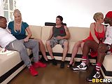 Dee Williams & London River Interracial Foursome Sex
