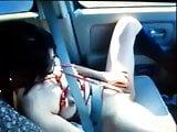 bondage slave in car