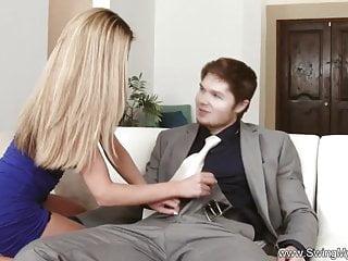 Hardcore Blowjob Handjob video: Hubby Allows Wife To Swing