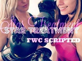 Blonde Brunette video: Star Treatment! Callisto vs Monroe Scripted Female Wrestling