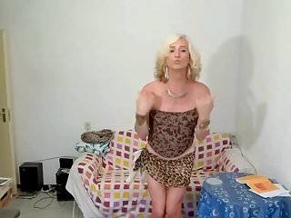 Hd Videos Small Tits Shemale Solo Shemale video: Blond Kitty Tranny in Africa with film music