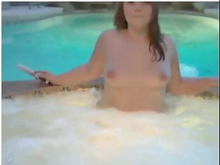 Cute Yummy Chubby Teen having fun in the pool