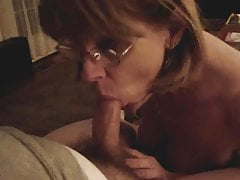 Mrs. Commish sucks cock in glasses