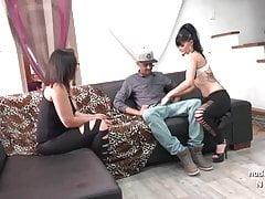 Casting couch di una bella coppia francese interrazziale amatoriale