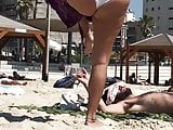 Beach spy- amazing cameltoe and thing big ass teen