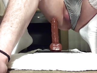 Bianca riding her BBC dildo