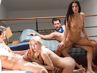 Hardcore Funny Swingers video: LETSDOEIT - Swinger Party Turns into Wife Swap Foursome