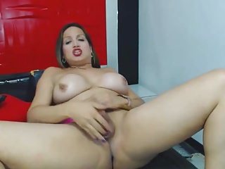 Big Tits Shemale Shemale Porn Shemale Solo Shemale video: Busty Shemale Stroking her Hard Cock