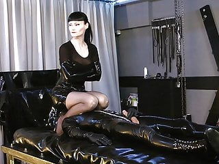 very dominalucia playing with black dildo for cuckolds especial. opinion