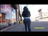 Delicious Candid Booty Latina Walking