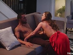 Abigail Mac rides and sucks big black cock