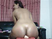 Fat ass dildo ride