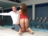 Assfuck by poolside