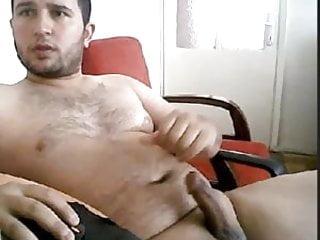 Ege jacks big curvy cock...