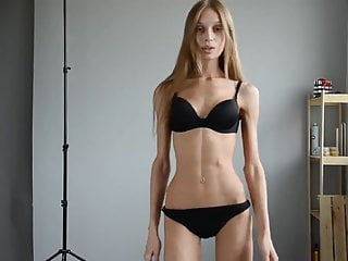 Extremely skinny girl in castings...