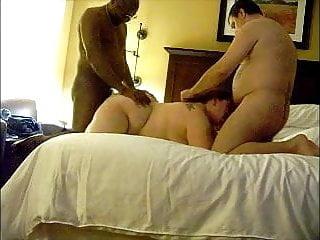 BBW wife in threesome