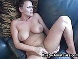 Busty amateur Lesley on masturbation