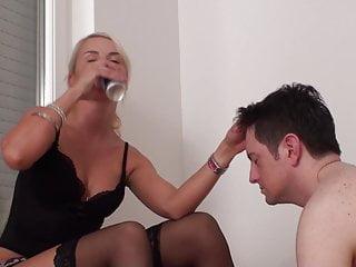 Princess Paris enjoys spit in slave Bobby's face