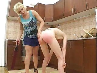the in kitchen spanked slavegirl thin Submissive