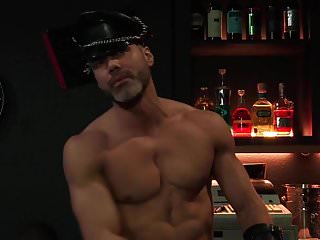 4 raging stallion hunks at the leather bar...