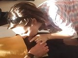 Hot blowjob on sexy wife